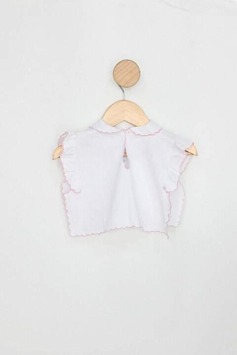 Blusa Infantil art crochet branco_foto de costas