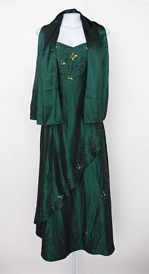 Vestido de Festa material feminino verde com Bordado e Bojo_foto principal