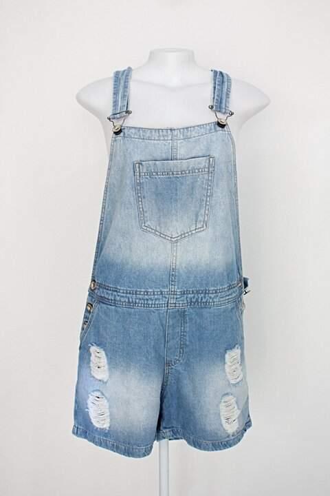 Jardineira jeans hering feminina azul destroyed_foto principal