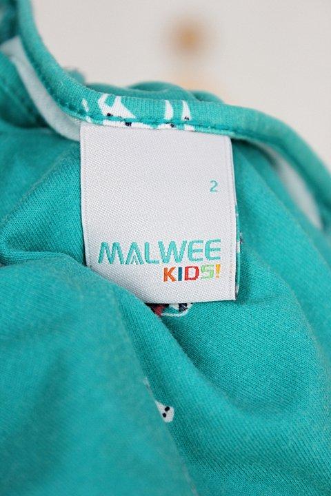 Vestido Infantil malwee verde estampado_foto de detalhe
