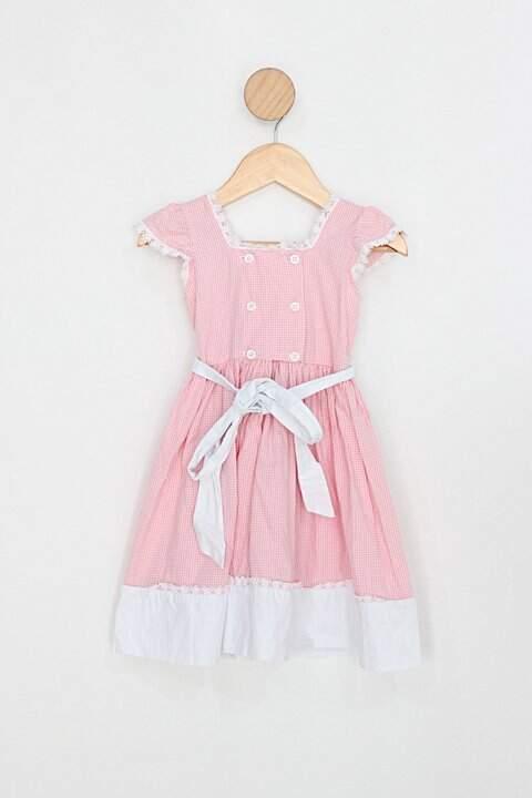 Vestido Infantil rosa xadrez_foto principal