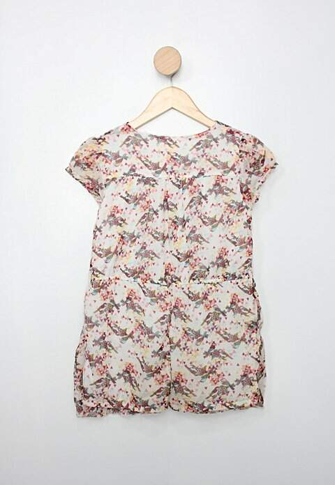 Vestido Infantil c&a estampado_foto de costas