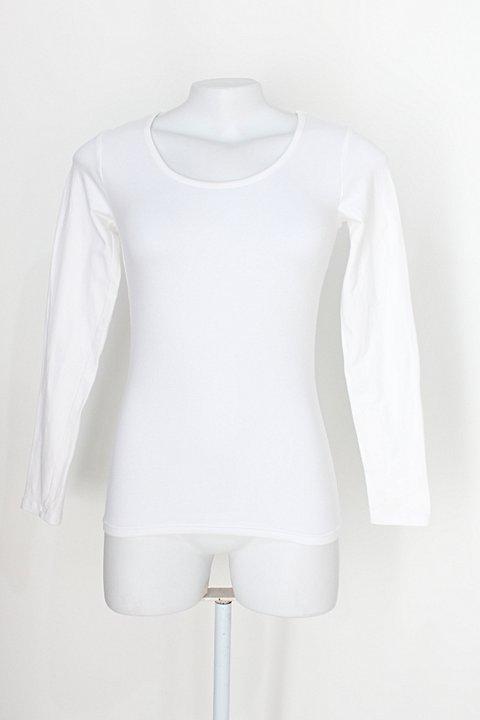 Blusa básica sumey feminina off-white manga longa_foto principal