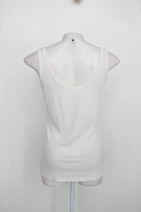 Regata marfinno feminina bege claro _foto de costas
