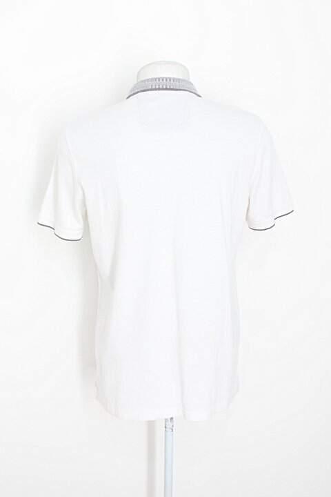 Camisa Polo banana republic masculina branca_foto de costas