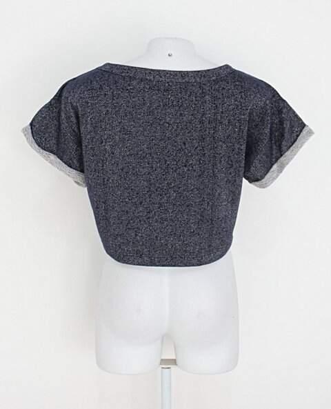 Blusa pool feminino cinza estampa_foto de costas