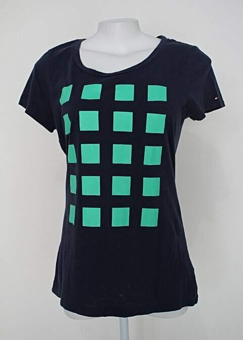 Camiseta tommy hilfiger feminina azul com estampa_foto principal