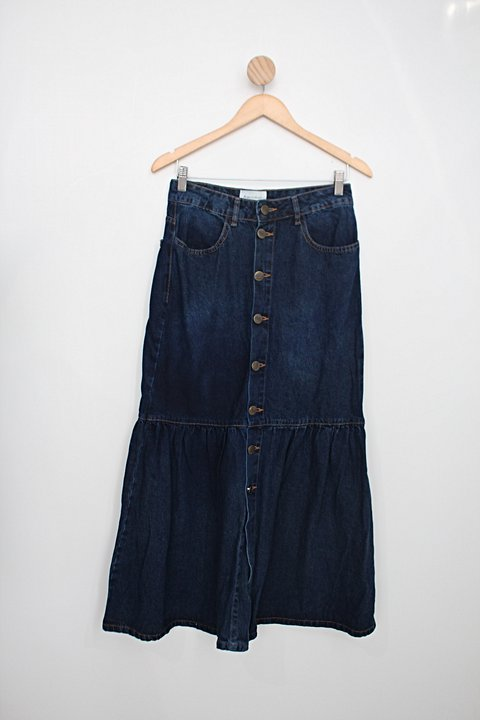 Saia Jeans aquamar feminina azul_foto principal