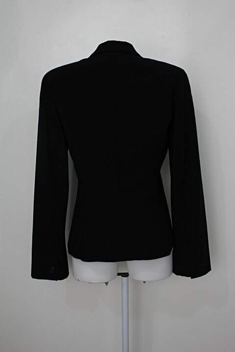 Blazer feminino preto  Lita Mortari _foto de costas