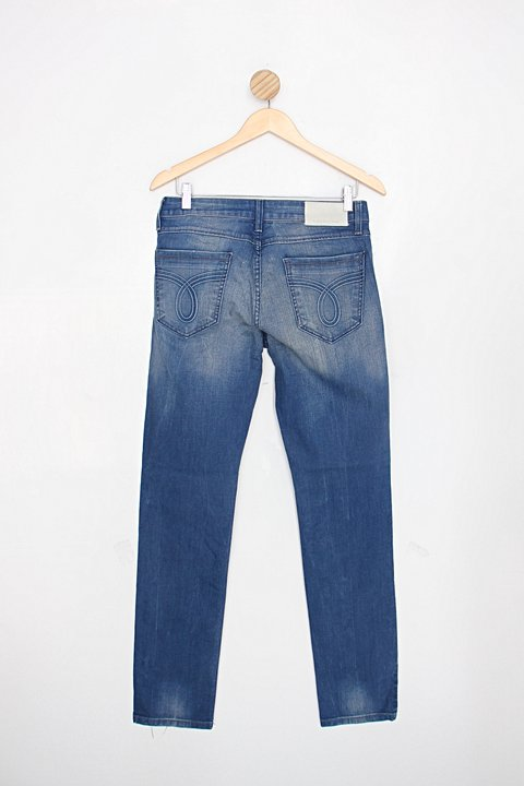 Calça Jeans Skinny masculina azul calvin klein_foto de costas