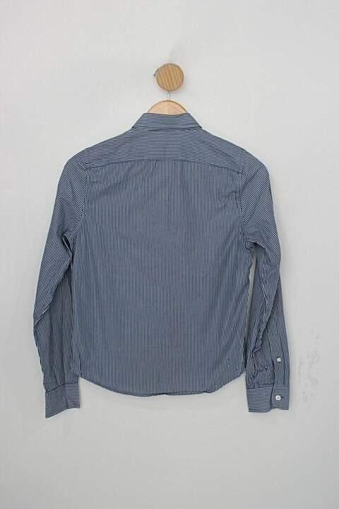 Camisa Infantil aberbrombie & fitch azul listrada_foto de costas