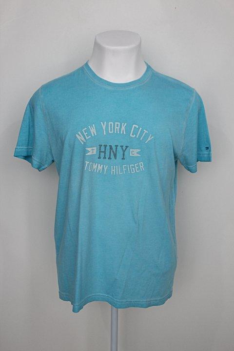 Camiseta tommy hilfiger masculina azul claro com Silk_foto principal