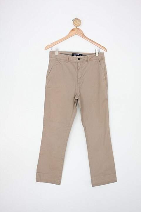 Calça de sarja riachuelo masculina bege_foto principal
