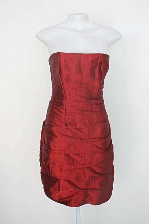 Vestido de Festa sécia feminino vermelho com forro_foto principal