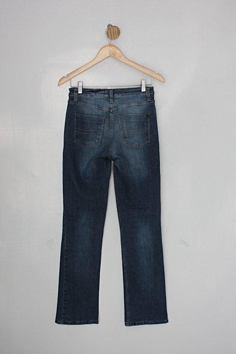 Calça Jeans le lis blanc feminina azul_foto de costas