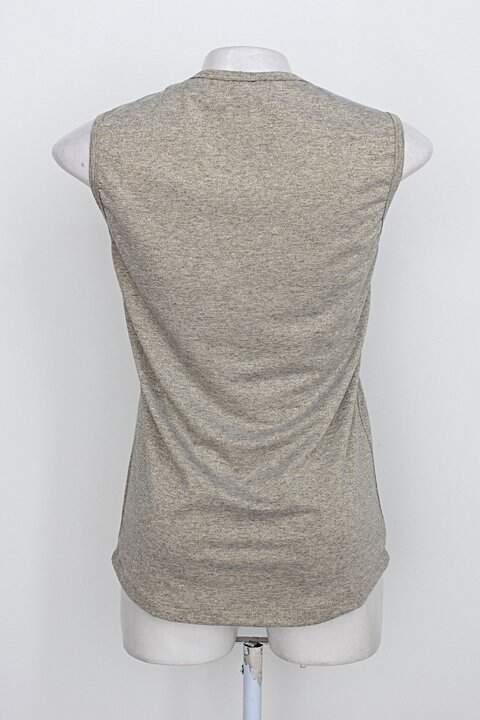 Blusa vestire feminina dourado_foto de costas