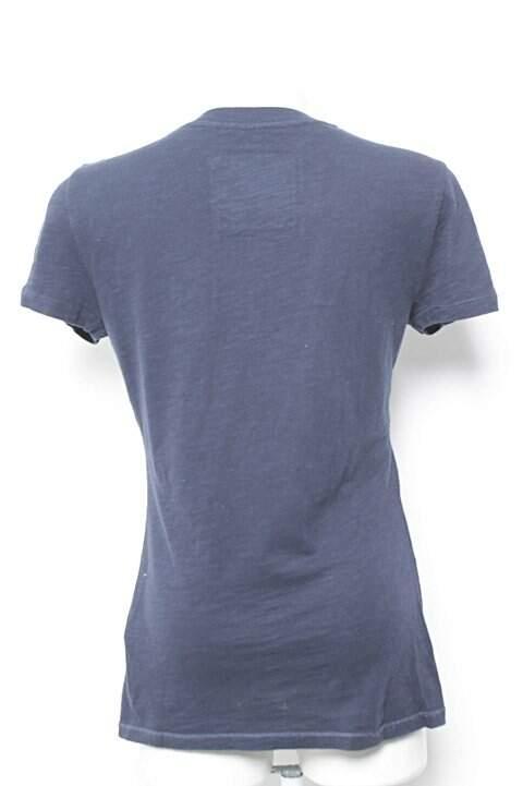 Camiseta Azul Abercrombie_foto de frente