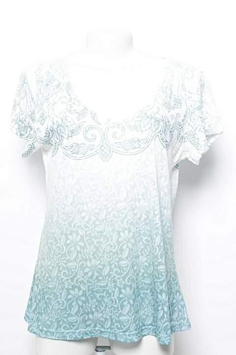 Camiseta Siberian Estampa Floral Azul _foto principal