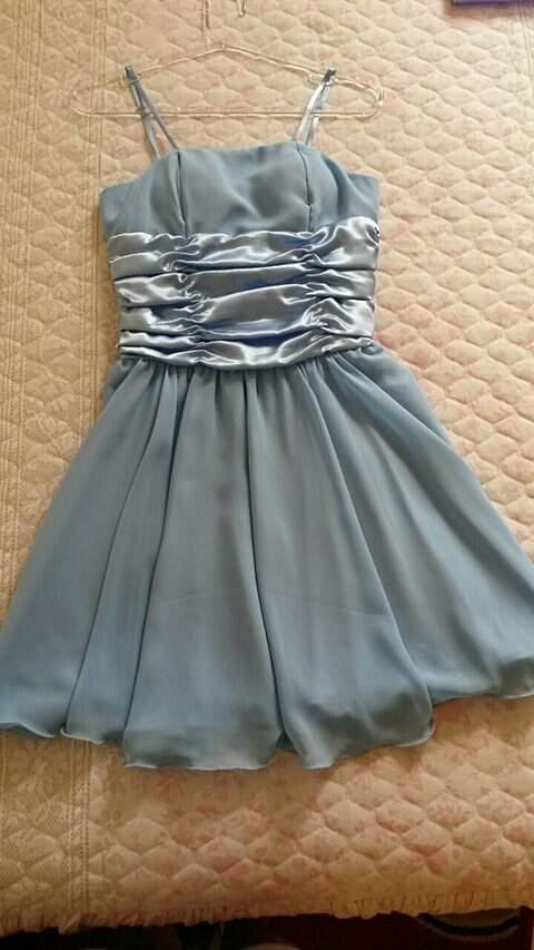 Vestido de Festa Azul Princesa _