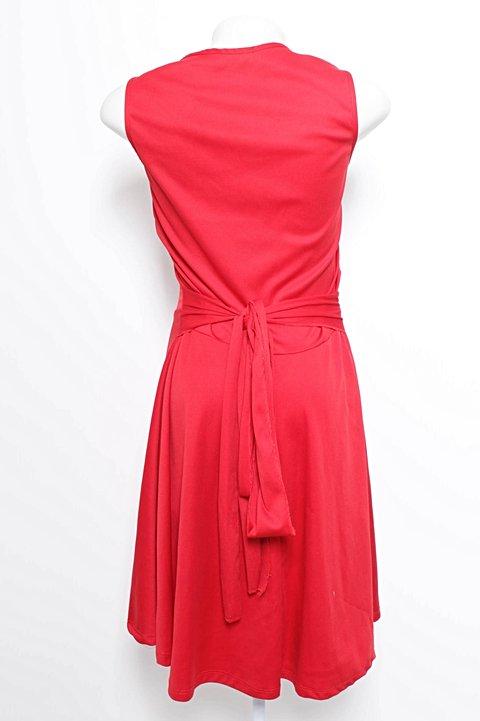 Vestido Vermelho de Malha_foto de costas