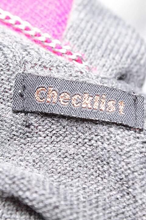 Vestido Justo Tricô Cinza Checklist_foto de costas