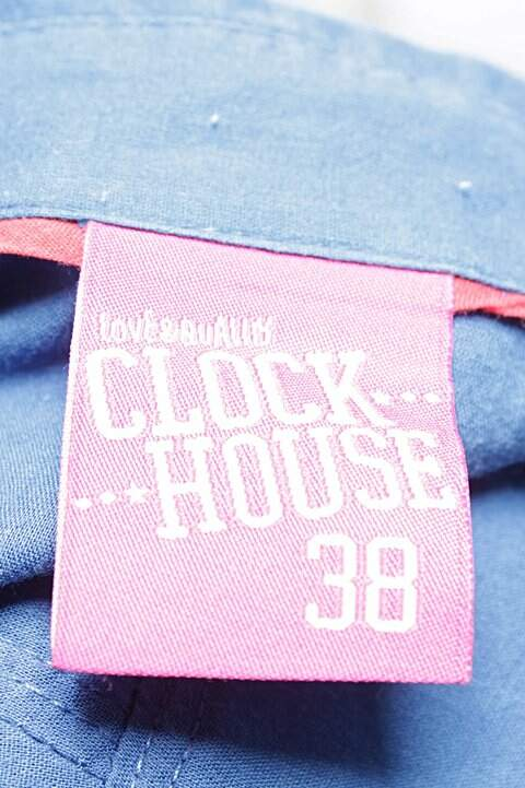 Camisa Manga Longa Azul C&A_foto de costas