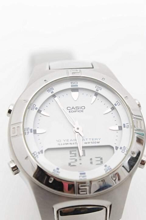 Relógio Masculino Prata Casio_foto de costas