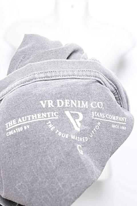 Camiseta Cinza VR Denim Co._foto de costas