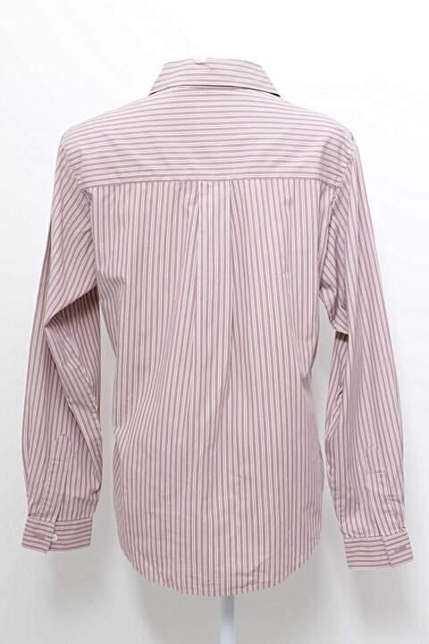 Camisa Lilás com Listras Gap_foto de frente