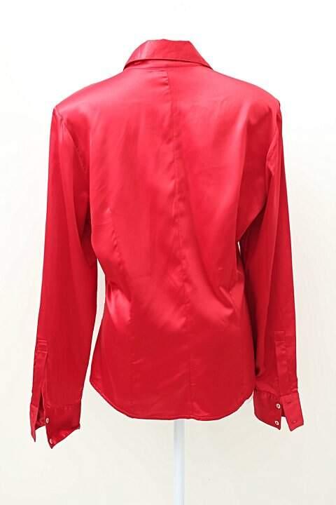 Camisa Vermelha Acetinada Ducatto_foto de frente
