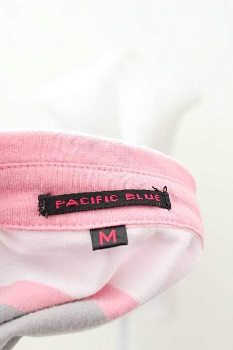 Camiseta Polo Rosa com Cinza_foto de costas