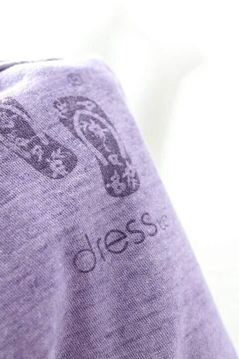 Camiseta Dress To Lilás _foto de costas