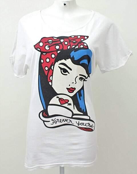 Camiseta Branca com Mulher_foto principal