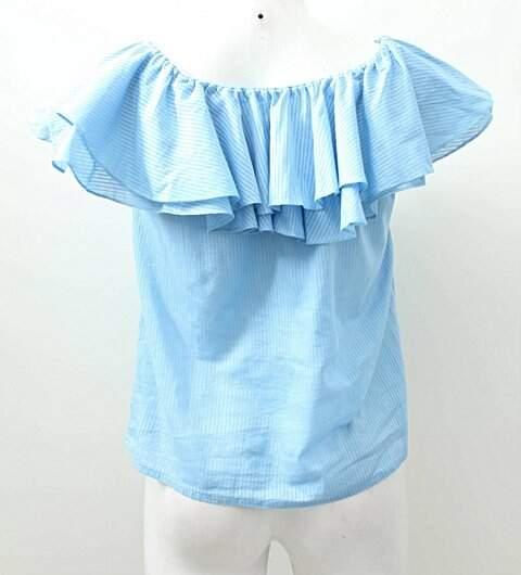 Ciganinha Azul Listrada _foto de costas