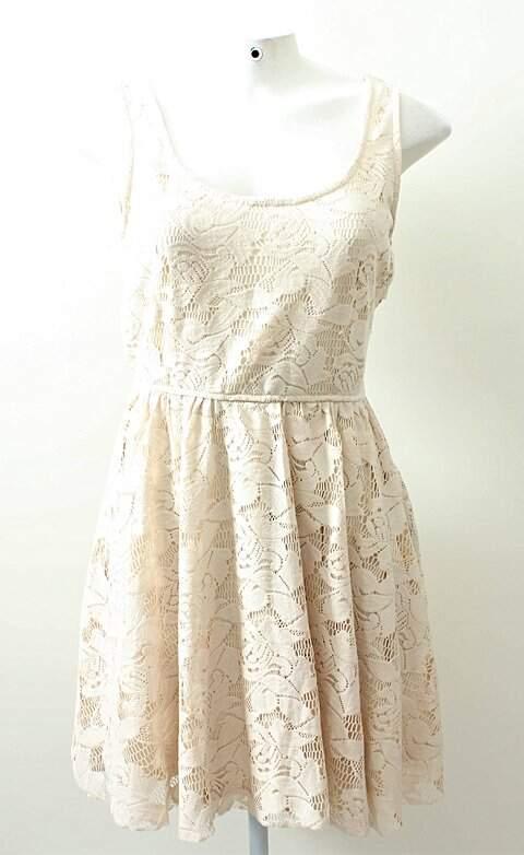Vestido Creme Curto Zara_foto principal