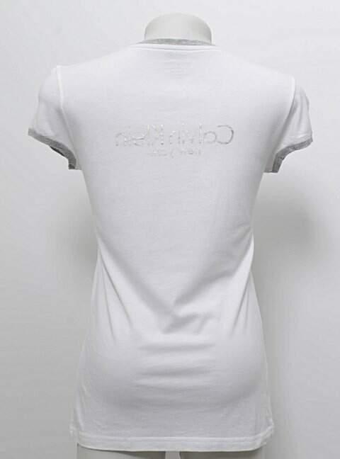 Camiseta Calvin Klein Off-white _foto de frente