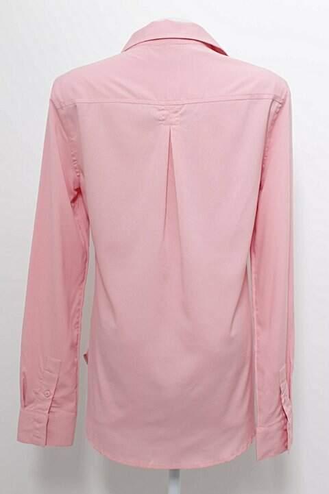 Camisa Social Rosa American Eagle_foto de frente