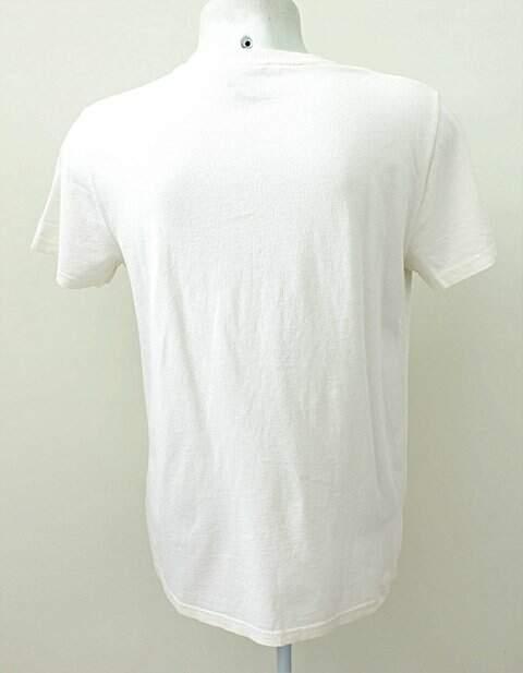 Camiseta Ralph Lauren Polo Jeans Co. Off-white Estampa _foto de frente
