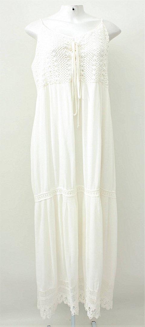 Vestido Longo Branco Casual Street_foto principal