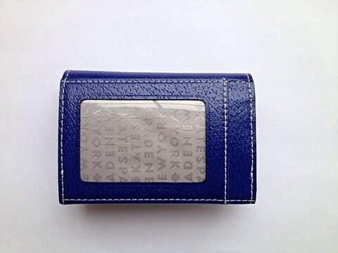 Bolsa Carteira Kate Space NWT Azul Marinho_foto de costas