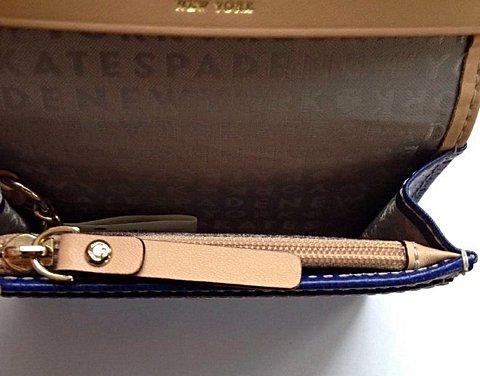 Bolsa Carteira Kate Space NWT Azul Marinho_foto de detalhe