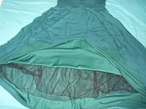 Vestido De Festa Frente Única Verde_foto de costas