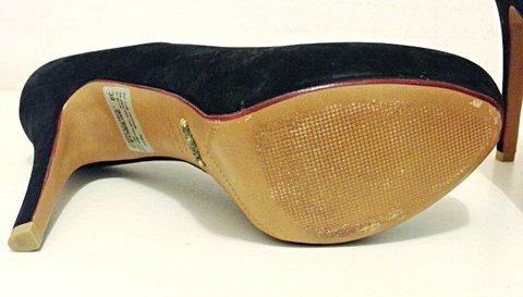 Sapato Schutz Camurça Preto _foto da etiqueta