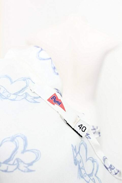 Blusa Alcinha Pool Off-white Estampada _foto de costas