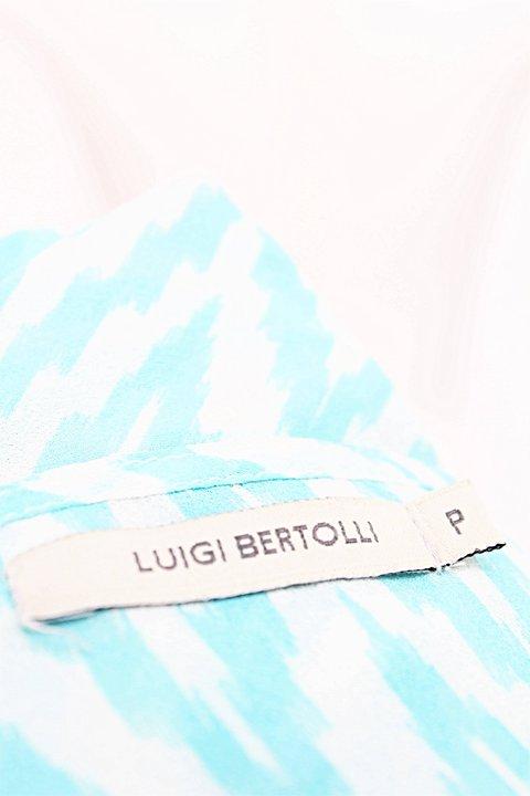Blusa Regata Luigi Bertolli Chevron Azul _foto de costas