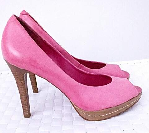 Sapato Peep Toe Pink Arezzo_