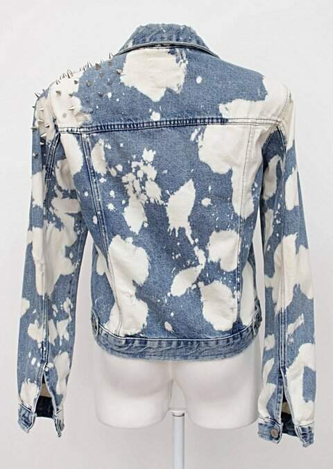 Jaqueta Jeans Com Spikes  zara_foto de costas