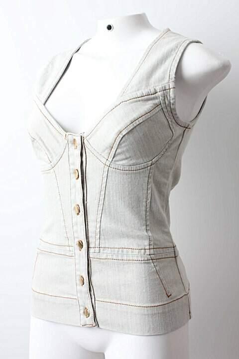 Blusa Jeans Alexandre Herchcovitch_foto de frente