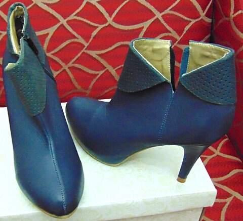 Ankle Boot Azul Marinho _foto principal