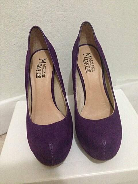Sapato Meia Pata Roxo Marlene Fantini_